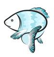 fish unique silhouette vector image