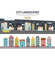 flat city landscape template vector image vector image