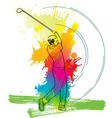 golf player a man kicking ball vector image