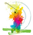 golf player a man kicking golf ball vector image
