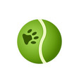 green ball toy for pets icon vector image vector image