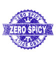 grunge textured zero spicy stamp seal with ribbon vector image vector image