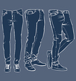 hand drawn fashion design mens jeans set vector image vector image
