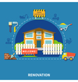 House Renewal Concept vector image vector image