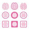 Human brain icons set - intelligence creativity c vector image