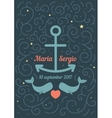invitation to wedding in a marine theme vector image