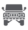 jeep glyph icon transportation and auto suv sign vector image