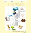 letter g crossword concept vector image