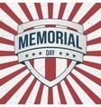 Memorial Day big patriotic Shield Sign vector image vector image