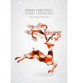 Merry Christmas trendy abstract reindeer vector image