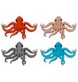 octopus hand drawn colored sketch vector image vector image