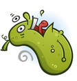 pickle cartoon character doing a backflip vector image vector image