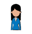 portrait woman female avatar figure vector image vector image