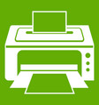 printer icon green vector image vector image