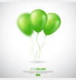 realistic 3d glossy ballons vector image vector image