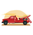 red tow truck vector image vector image