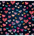 seamless heart pattern for valentines day vector image vector image