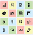 set of 16 editable bureau icons includes symbols vector image vector image