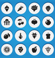 set of 16 editable dessert icons includes symbols vector image