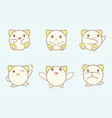 set of cute baby animals sticker collection vector image