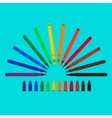 Set of felt-tip pens red green yellow purple vector image