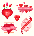 set valentines day banners vector image