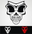 Skull Mask Tribal vector image vector image