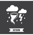 Storm bad weather sign icon Gale hurricane vector image
