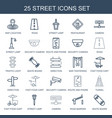 street icons vector image vector image