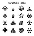 structure icon set vector image vector image