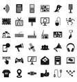 talking icons set simple style vector image vector image