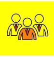 Team leadership group community vector image