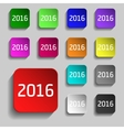 Thirteen colorful web buttons for your design vector image vector image