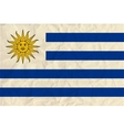 Uruguay paper flag vector image vector image