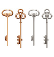 Vintage keys vector image vector image