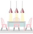 with dining room in flat style vector image