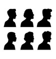 young men profile silhouettes vector image