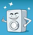 Washing machine character vector image