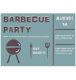 barbecue party poster on teal vector image