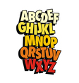 Comic style font type alphabet vector image