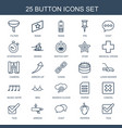 25 button icons vector image vector image