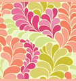 abstract botanic hippi 60s seamless pattern vector image