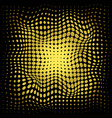 abstract halftone gold dots pattern on black vector image