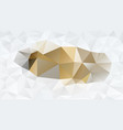 abstract irregular polygonal background gold white vector image