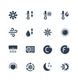 air conditioning icon set