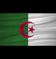 algeria flag algeria flag blowig in the wind eps vector image vector image