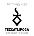 astrology asteroid tezcatlipoca vector image vector image