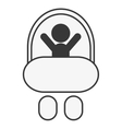 baby in stroller icon vector image vector image