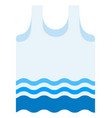 beach shirt icon flat isolated vector image