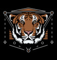 bengal tiger scared geometry design vector image vector image